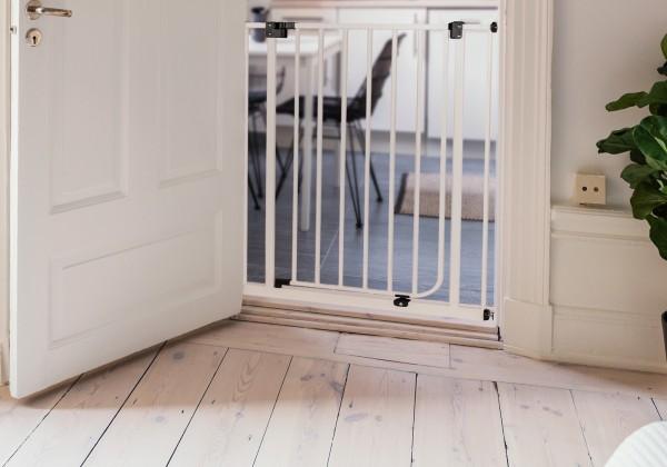 IMPAG® Tür- und Treppenschutzgitter Easy Step HIGH Polar-Weiß 113 - 122 cm