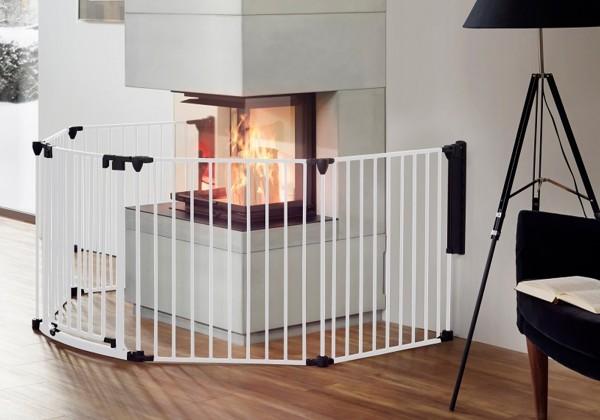 IMPAG® Ofenschutzgitter Rondo 370 cm | 6 tlg. [Polar-Weiß]