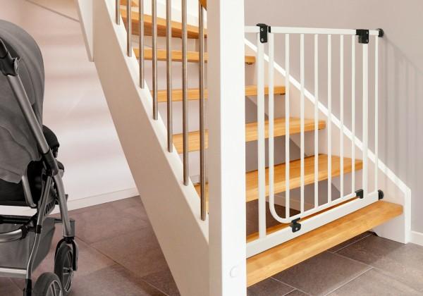 IMPAG® Treppenschutzgitter Easy Step 62 - 182 cm [Silber]