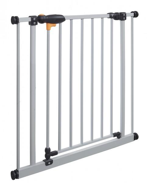 IMPAG® Tür- und Treppenschutzgitter TriLock Italo-Silber 73 - 82 cm