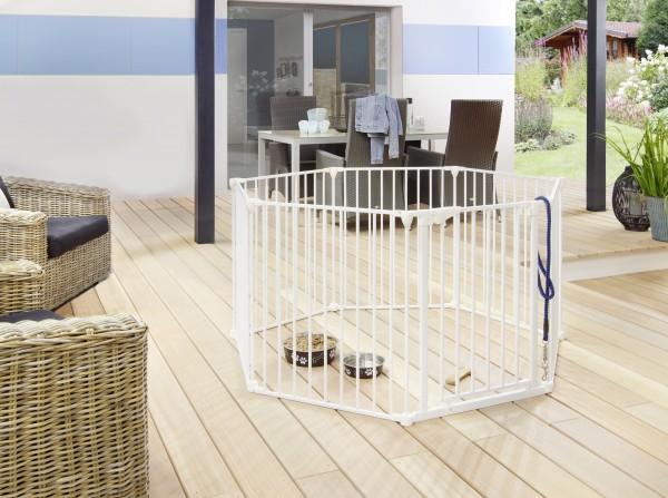 IMPAG® Tierlaufstall Snoopy 7 tlg. 430 cm [Polar-Weiß]