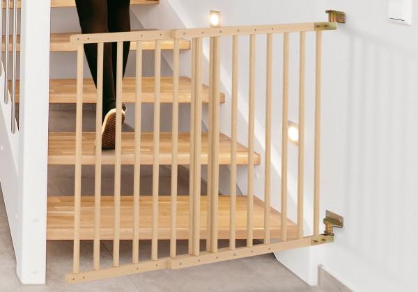 IMPAG® Treppenschutzgitter Safe´n Go aus Holz 70 - 105 cm