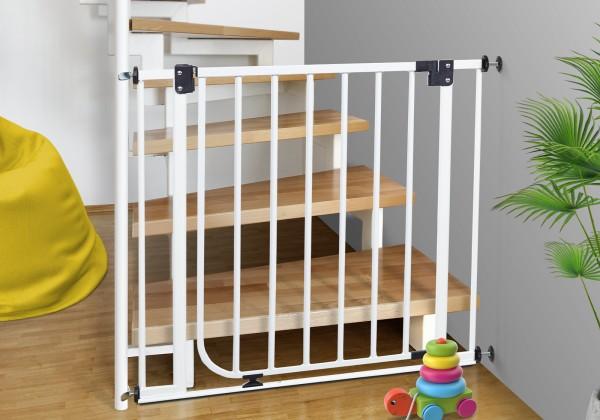 IMPAG® Treppenschutzgitter für Geländer, einseitig 62 - 222 cm