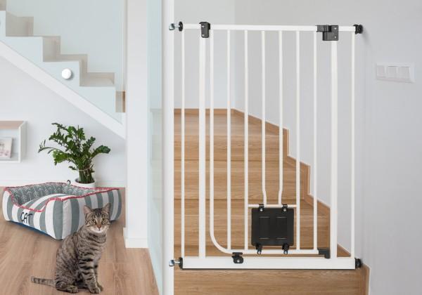 IMPAG® Treppen Katzenschutzgitter Mio 107 cm hoch 75 - 149 cm