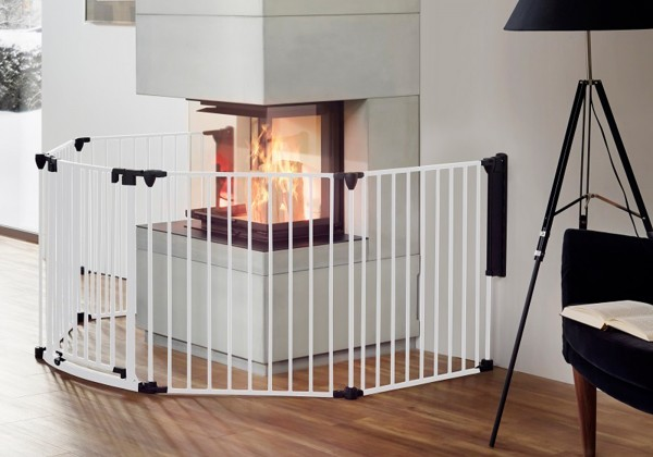 IMPAG® Ofenschutzgitter Rondo 310 cm | 5 tlg. [Polar-Weiß]