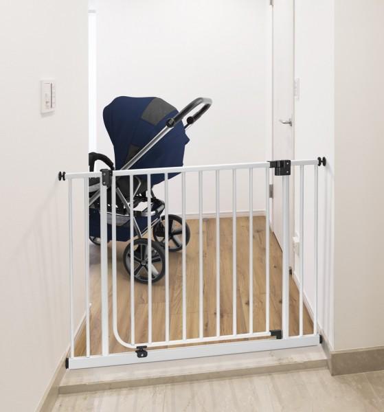 IMPAG® Tür- und Treppenschutzgitter Drive in Polar-Weiß 125 - 133 cm