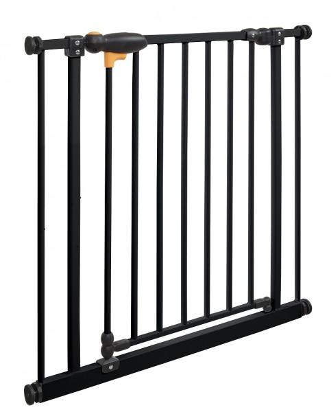 IMPAG® Tür- und Treppenschutzgitter TriLock Brilliant-Schwarz 73 - 82 cm