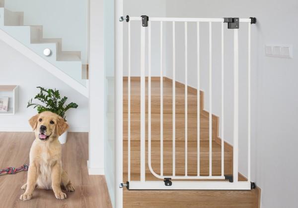 IMPAG® Treppen Hundeschutzgitter Dino 107 cm hoch 75 - 149 cm