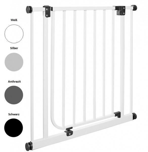 IMPAG® Tür- und Türschutzgitter Easy Step Italo-Silber 73 - 82 cm