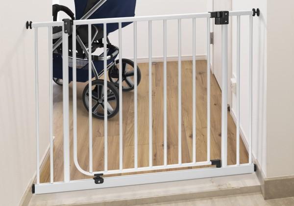 IMPAG® Tür- und Treppenschutzgitter Drive in Brilliant-Schwarz 145 - 153 cm