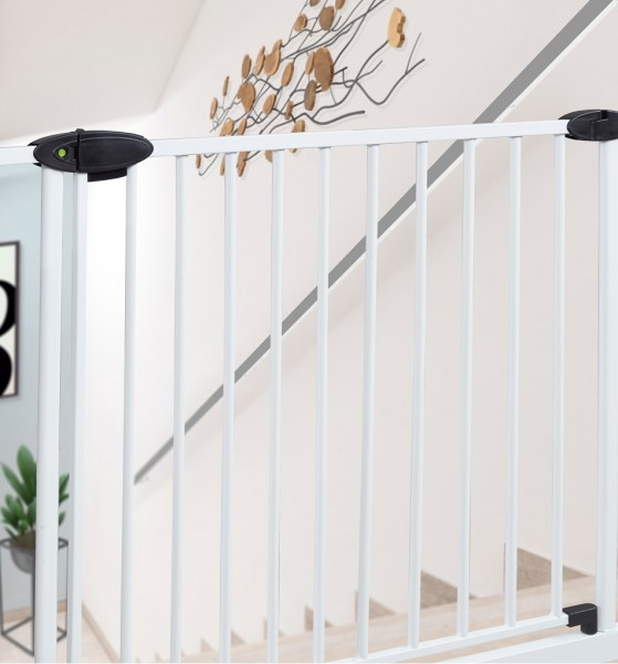 IMPAG® Tür- und Treppenschutzgitter Traffic Light Polar-Weiß 143 - 152 cm