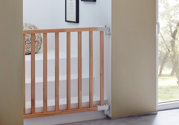 IMPAG® Treppenschutzgitter Easy Shut aus Holz 65 - 115 cm