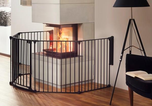 IMPAG® Ofenschutzgitter Rondo 250 cm | 4 tlg. [Polar-Weiß]