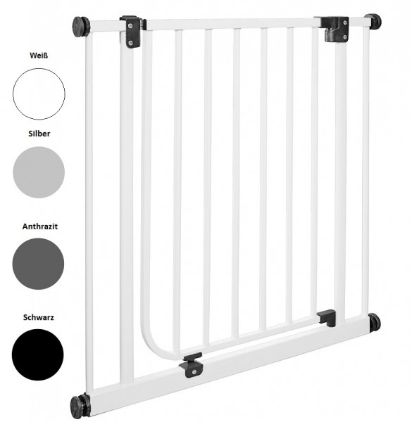 IMPAG® Tür- und Türschutzgitter Easy Step Polar-Weiß 73 - 82 cm