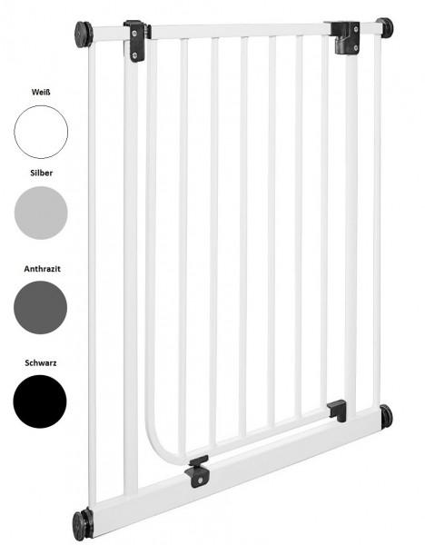 IMPAG® Tür- und Treppenschutzgitter Easy Step HIGH Brilliant-Schwarz 73 - 82 cm