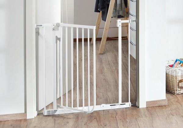IMPAG® Tür- und Treppenschutzgitter Easy Step Brilliant-Schwarz 213 - 222 cm